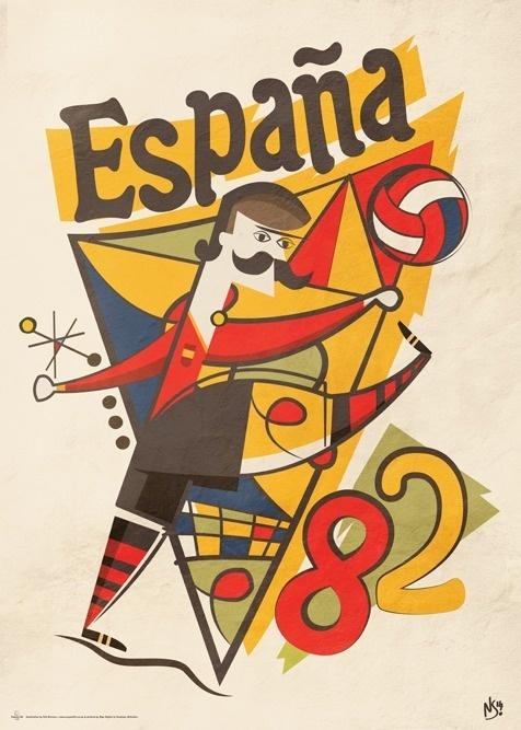 España 82 By Neil Stevens #espana #illustration