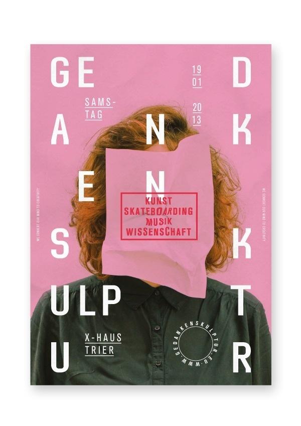 Gedankenskulptur on Behance #poster #typography