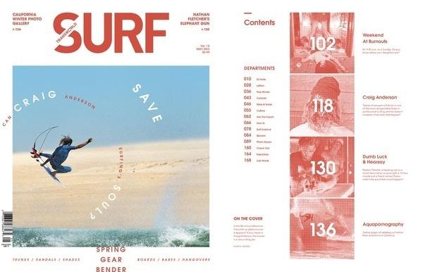 May 2013 Cover Craig Anderson #surf #ocean #color #magazine