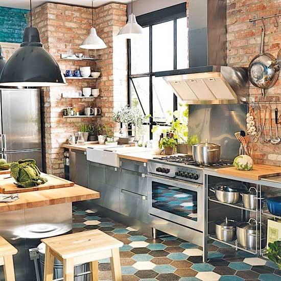 Den ofärdiga stilen stark – tegelvägg i köket nästa trend Sköna hem #interior #brick #design #decor #kitchen #wall #deco #decoration