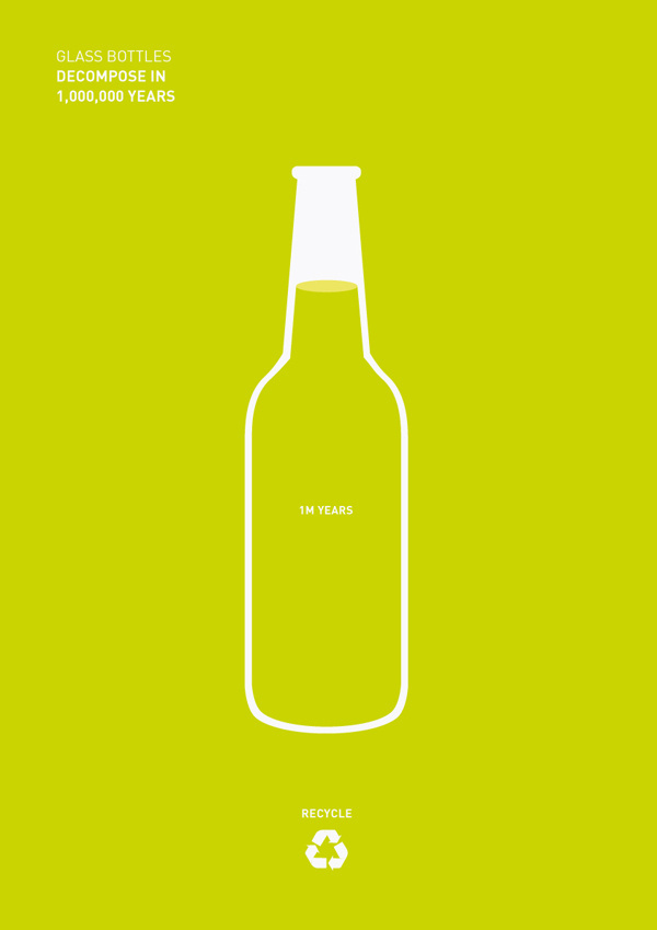 Recycling #recycle #bottle #design #graphic #world #minimal #poster #green