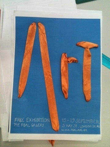 Day by Day - One day, I'll be a designer - a blog about how to become one #orange #art #ribbon #type #blue