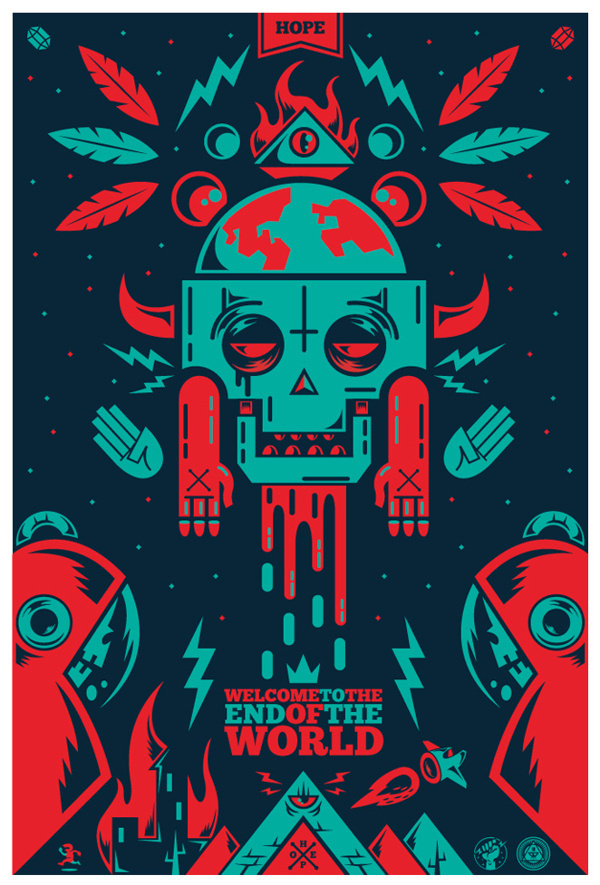 The End Of The World on Behance #of #world #the #illustration #colors #end #poster #awesome