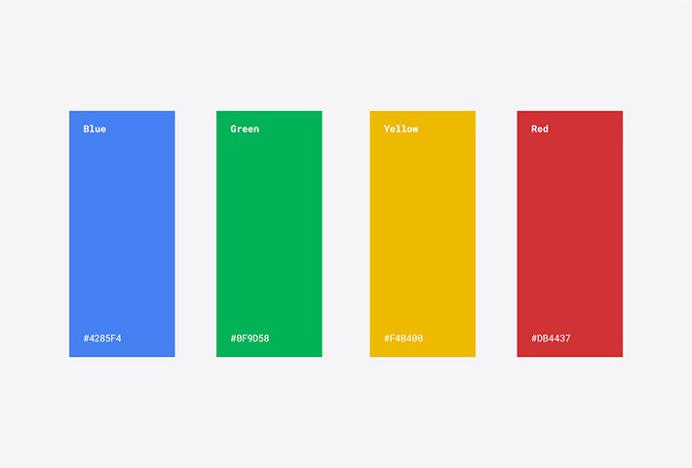 Google by Google Design #colors