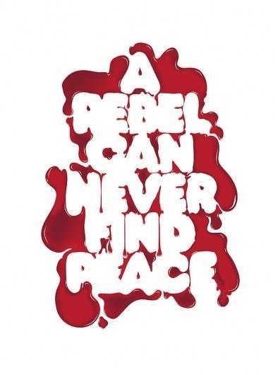 I Love Dust #blood #red #rebel #melting #typography