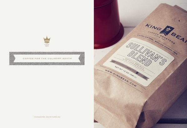 King Bean Coffee Roasters — Stitch Design Co. #branding #packaging #stitch #design #co #coffee #logo #king #typography