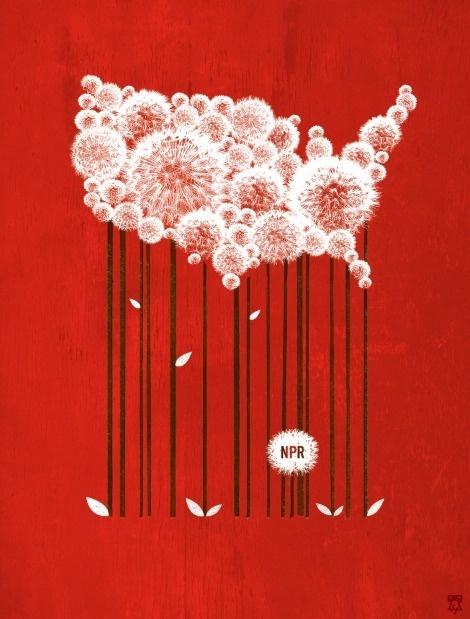 Designersgotoheaven.com NPR's 2011 calendar byJason Kernevich and Dustin Summers. #usa