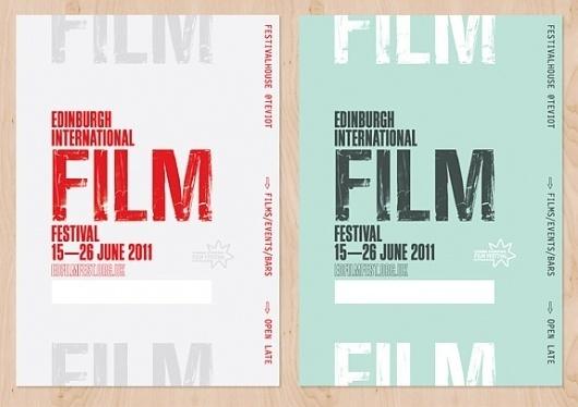 Onestep Creative - The Blog of Josh McDonald » Edinburgh International Film Festival #design #identity #festival #film