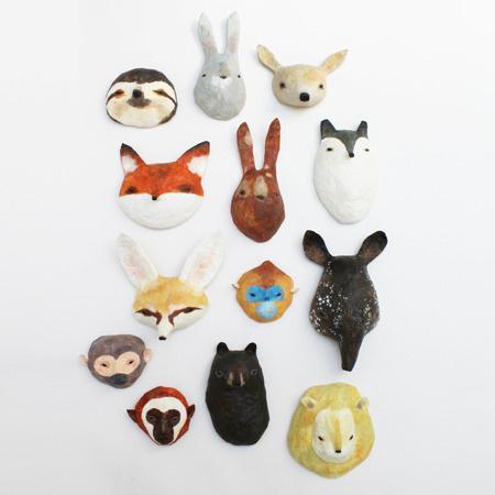 Abigail Brown: creature textile designer extraordinaire animals #fox #lion #monkey #masks #sculptures #animals #rabbit