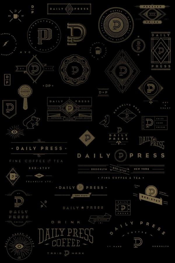 Daily Press Identity on Behance #mark #sketching #press #illustration #daily #coffee #logo