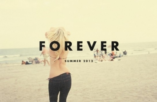Glamour Kills | Summer Forever - S/S 2012 | Rawtee #photography #typography