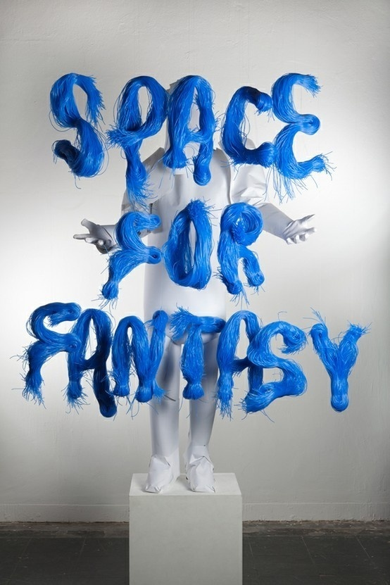 The 3D Type Book by FL@33..! SPACE FOR FANTASY! #wool #real