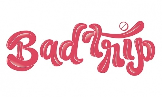 6.jpg 670×400 píxeles #lettering #charlie #huts #trip #toungue #bad