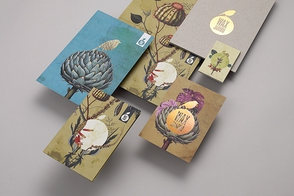 Looks like good Graphic Design by Studio Output #business #design #corporate #illustration #birds #cards #flowers