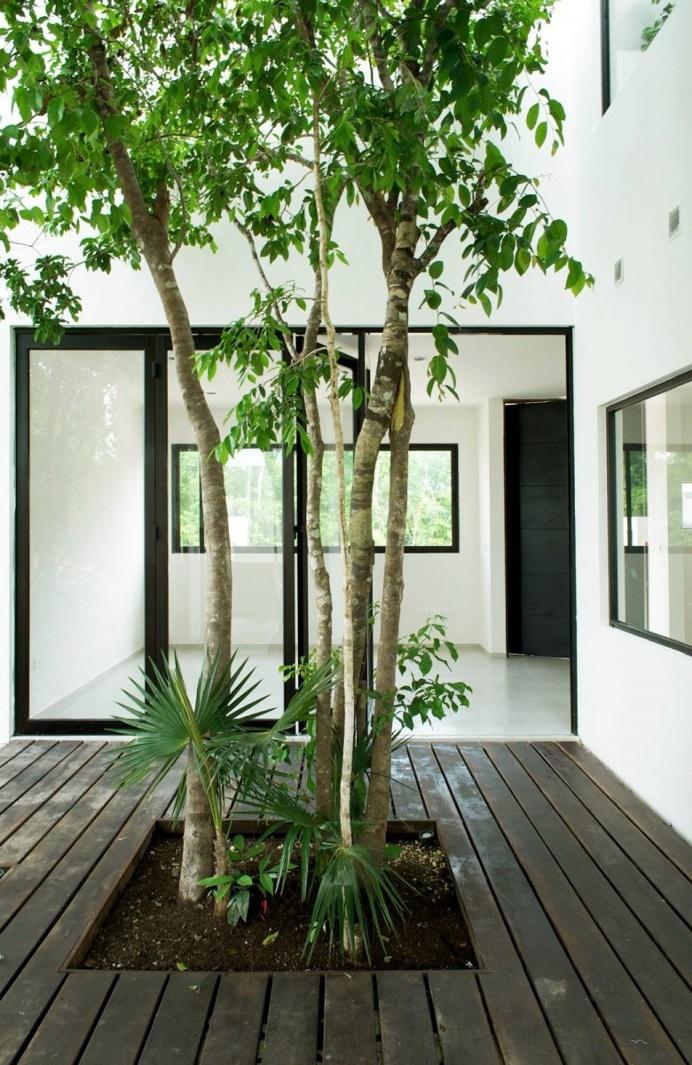 Central tree courtyard. W41 by Warm Architects. © Zaruhy Sangochian. #patio #courtyard