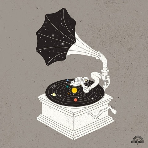 FFFFOUND! #astronaut #vinyl #music #planets #gramophone