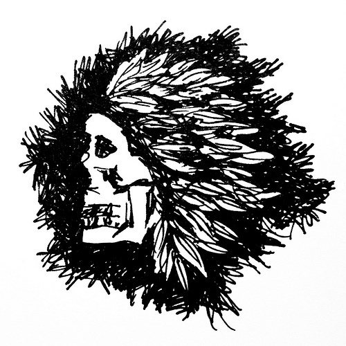 All sizes | Native Spirit | Flickr - Photo Sharing! #illustration #indian #skull