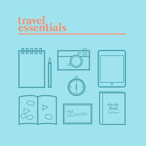 Travel Essentials #essentials #travel #illustration #poster #drawing