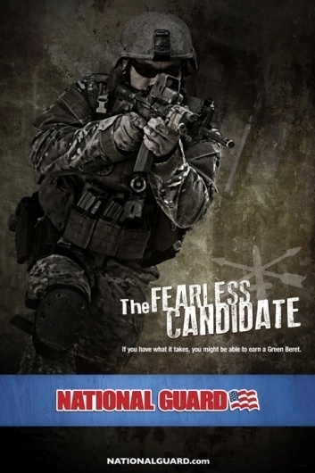 National Guard | Special Forces, The Fearless Candidate on the Behance Network #racepony #fearless #the #guard #candidate #forces #special #national #beret #green