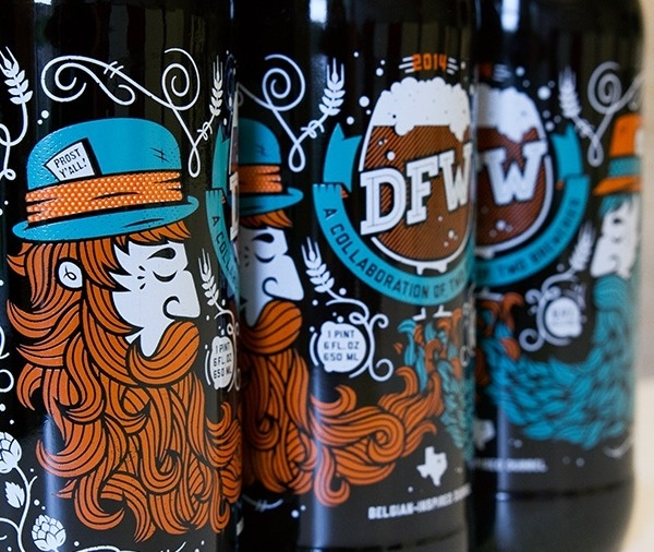 DFW: Collaboration Beer by All The Pretty Colors (Nathan Walker) @atpcdesign #beer #packaging #design #pretty #label #all #the #illustration #colors