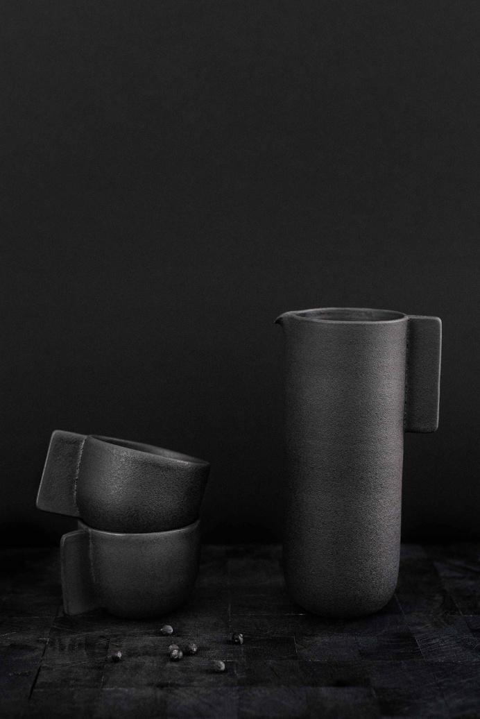 Stoneware Pitcher Set