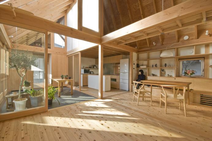 House in Kashiwa #wood #open