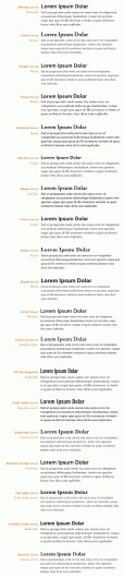19 top fonts in 19 top combinations #poster