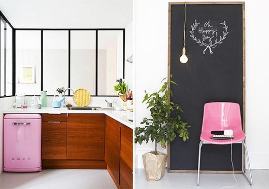 color-13 #interior #pink #design #decor #kitchen #deco #decoration