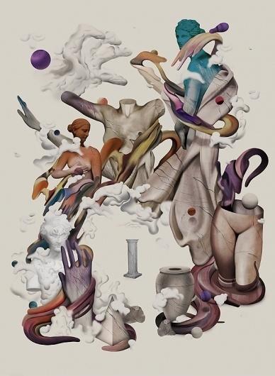 Album Art on the Behance Network #abstract #mario #geometry #design #statue #illustration #art #hugo