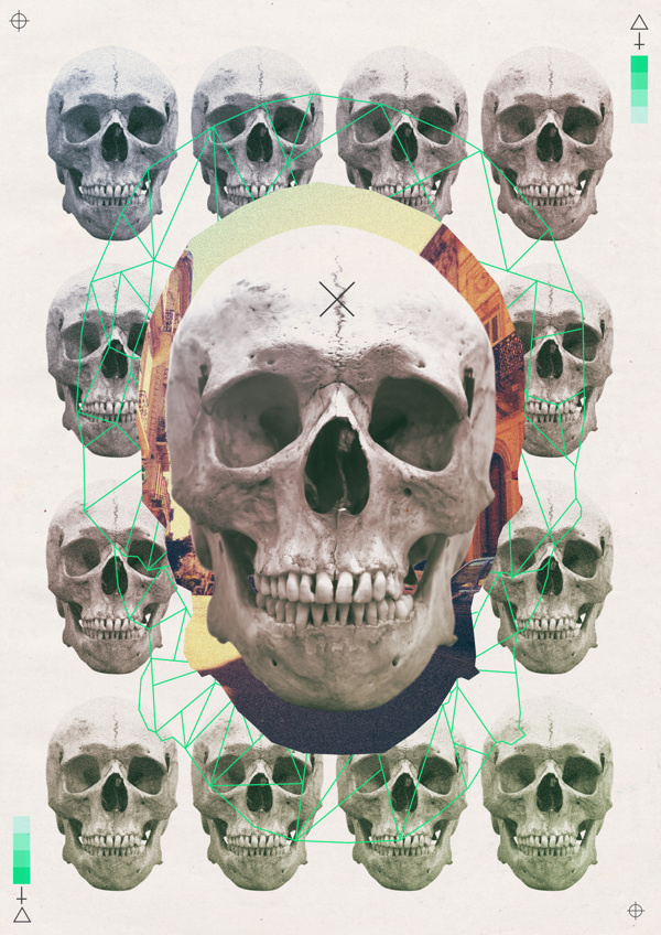 LA CALAVERA #calaveras #design #dg #skulls #poster #trash #calavera #skull