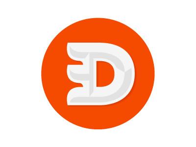 D #logo #orange #lettermark #typography
