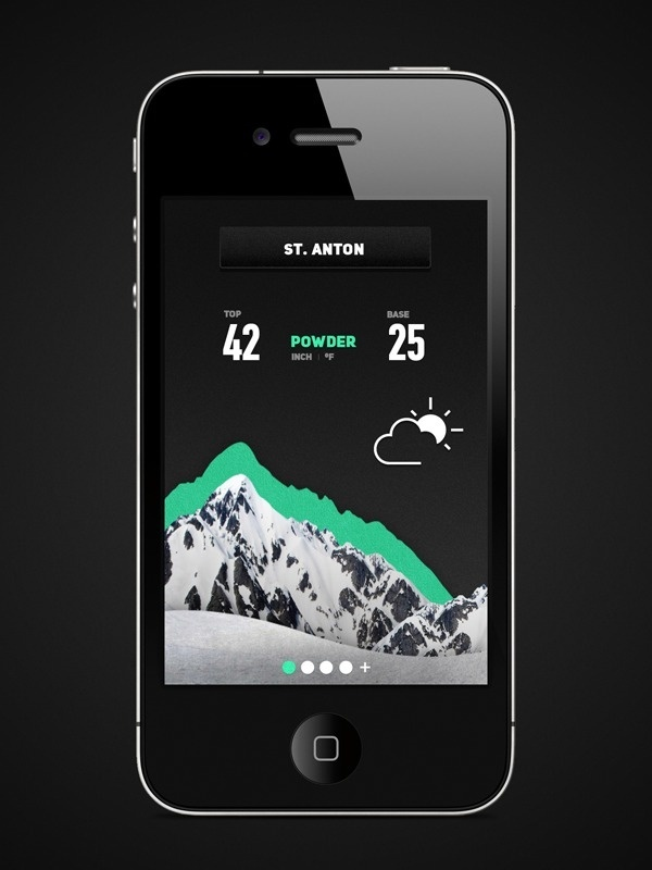 Frends Snow app on Behance #information #weather #ski #snow #app #mountains