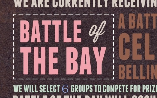 Battle of the Bay « 1985 Creative #type #design #typpography
