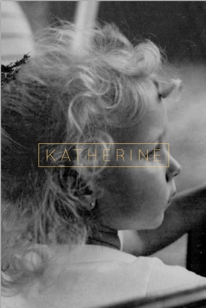 KATHERINE #white #girl #invitation #print #black #poster #and