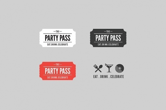 David Arias – Branding and Design / Freelance Graphic Designer / Vancouver, Canada / Party Pass #logo #pass #identity #party