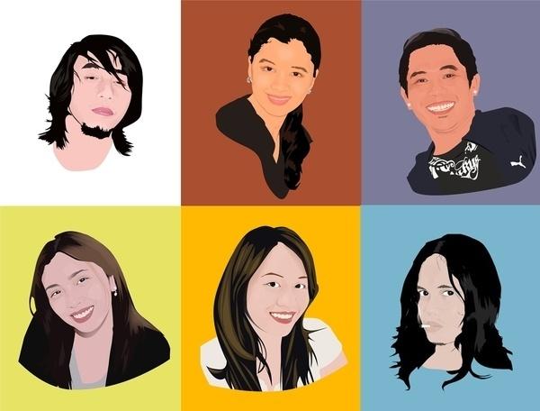 Vectors on the Behance Network #vector #edzelrubite #people #portraits #sknny