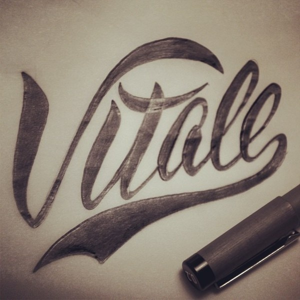 Vitale, branding project by Adria Molins #calligraphy #lettering #retro #handmade #vintage #barcelona #brush #swoosh #molins #typography