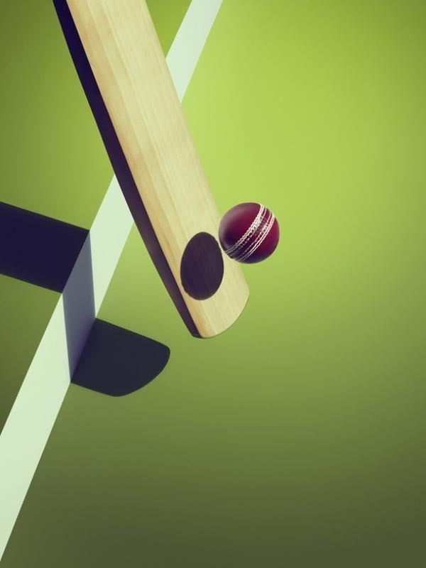 Sports and Surreal Shadows by Kelvin Murray Cricket #photography #illusion #shadow
