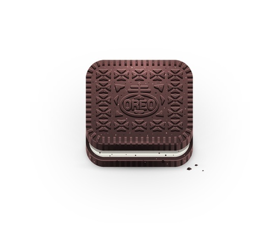 Oreo icon by Julian Burford, via Behance #icon #iphone #application #ipad