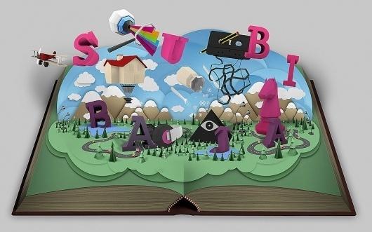 Subibaja - ignacio fretes #book #subibaja #lowpoly #type #typography