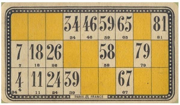 Bingo Card #loto #bingo