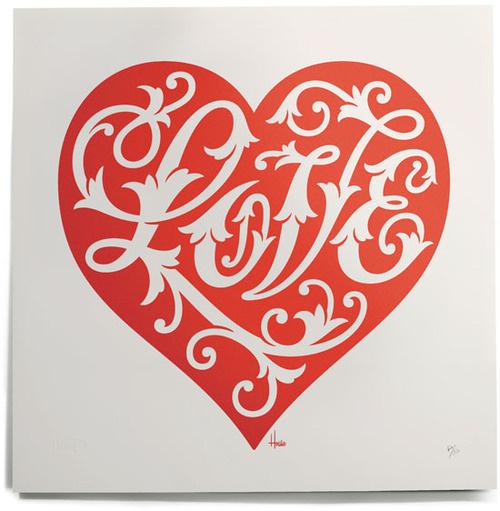 Typeverything.com House Industries Love Heart Print. #heart #love