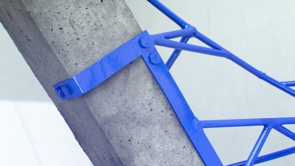 urban taster   a quick (almost daily) taste of the urban landscape #sculpture #weld #bolts #blue #cement