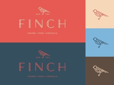 nice logo for finch #logo #typography