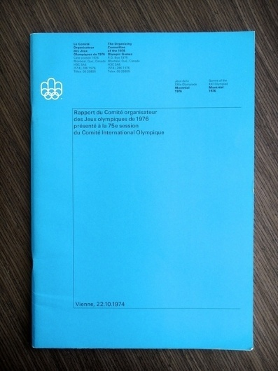 1976 Montréal Olympics Committee Report | Flickr - Photo Sharing! #type #grid #editorial #logo