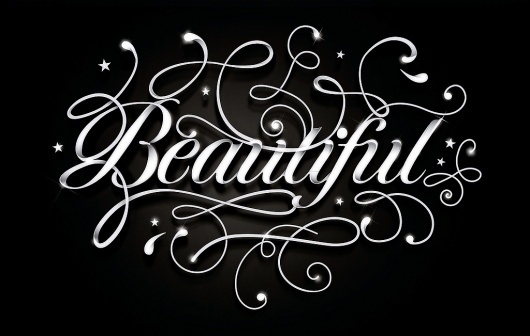 Alle Größen | Beautiful | Flickr - Fotosharing! #lettering #handdrawn #swashes #typo #typography