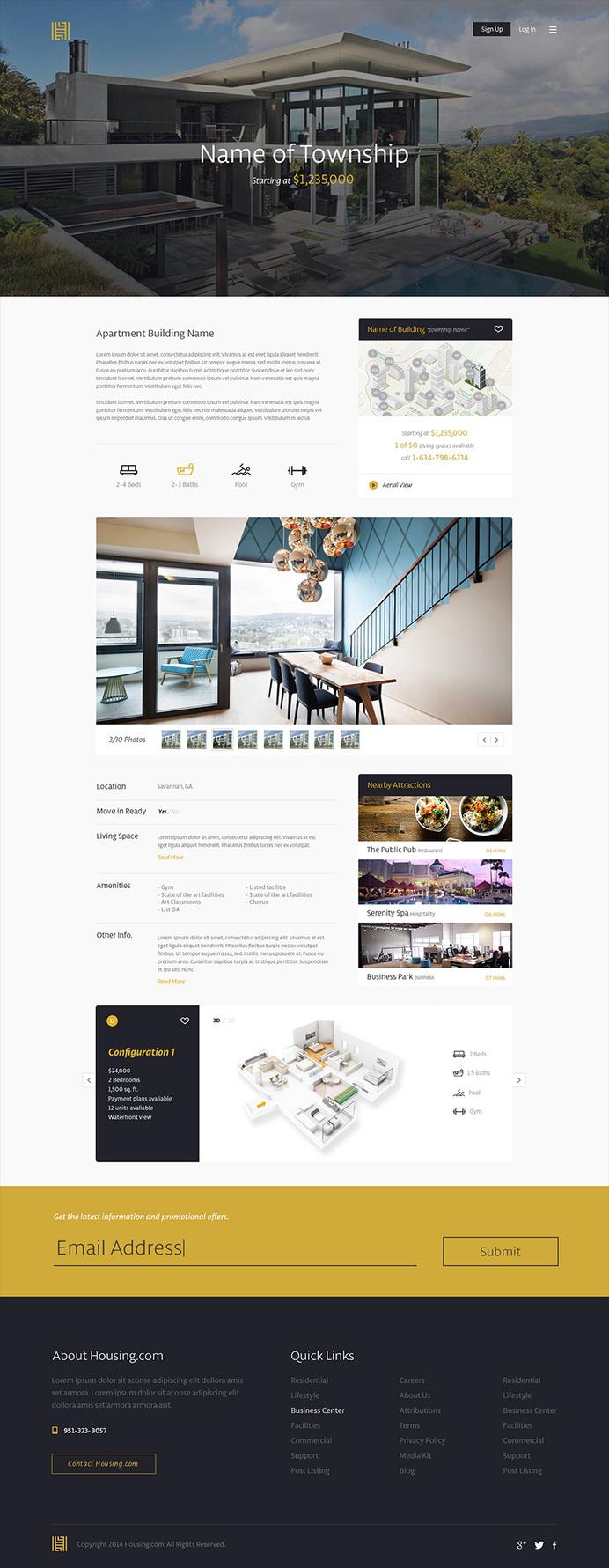 Housing.com #flat #house #focus #lab #design #clean #ui #township #real #minimalist #web #estate