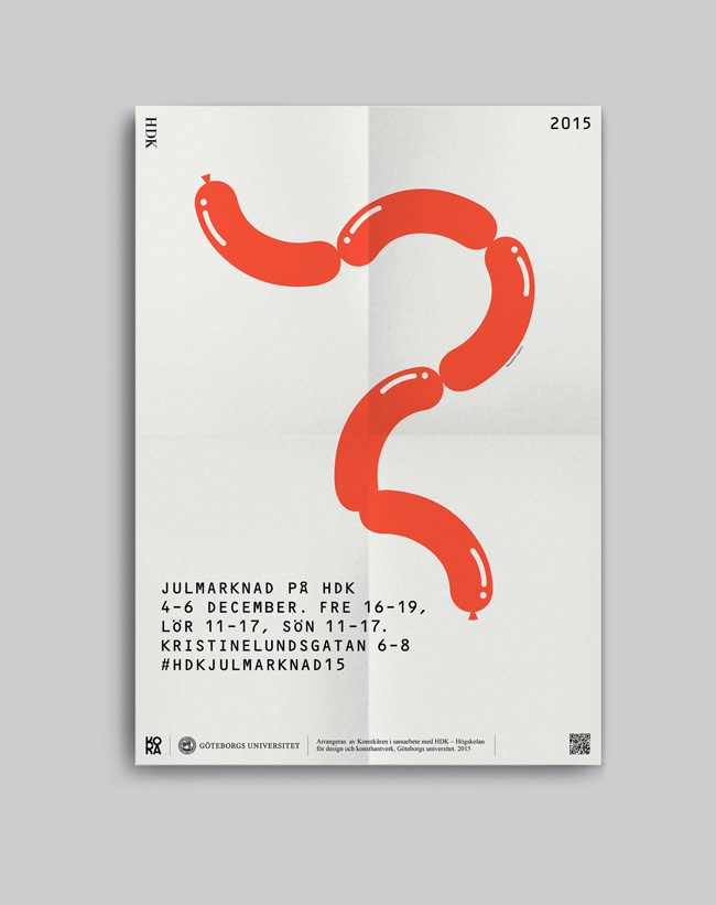 #Poster #Typography #Layout #Graphicdesign #Design #Sausage - Christine Jansson