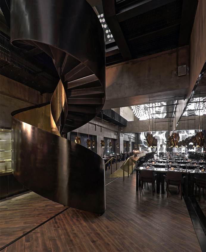 Asian Restaurant with Interactive Light Installation - #restaurant, restaurant, #decor, #interior, interior design