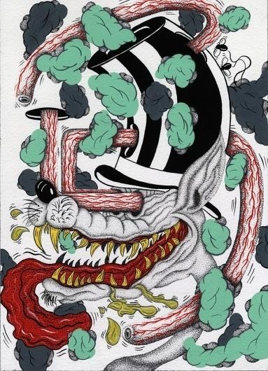 FECAL FACE DOT COM #ink #pop #tattoo #art #paper